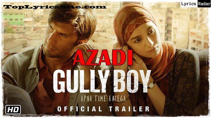 Azadi Lyrics