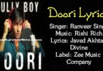 Doori Lyrics