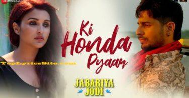 Ki Honda Pyaar Lyrics
