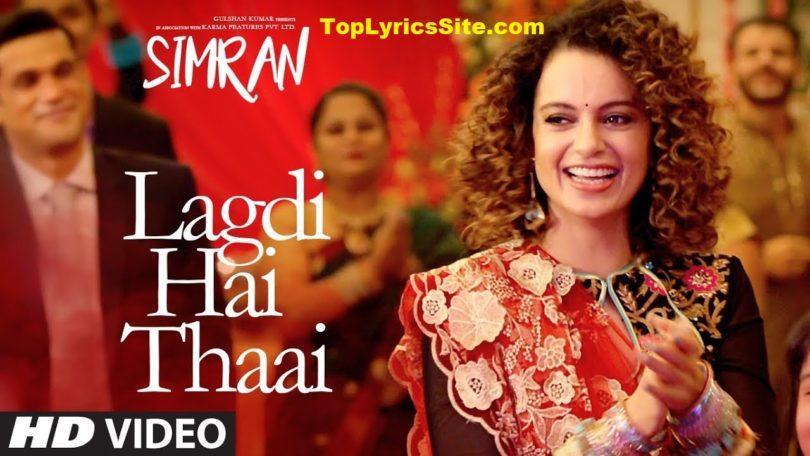 Lagdi Hai Thaai Lyrics