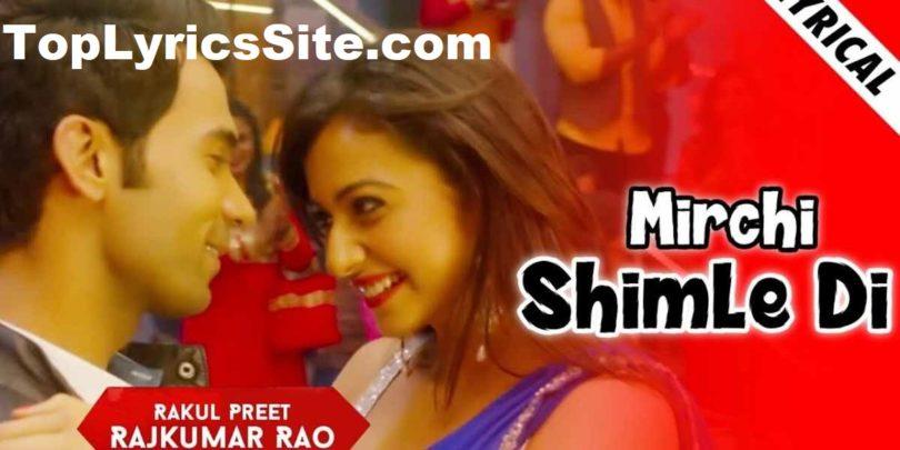 Mirchi Shimle Di Lyrics