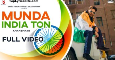 Munda India Ton Lyrics