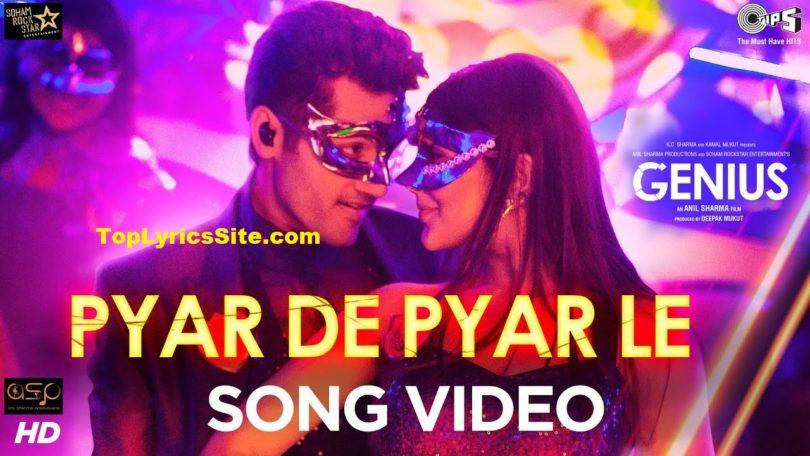 Pyar De Pyar Le Lyrics