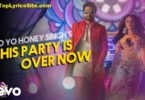 This Party is Over Now Lyrics