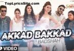 Akkad Bakkad Lyrics