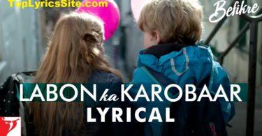 Labon Ka Karobaar Lyrics