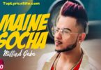 Maine Socha Lyrics
