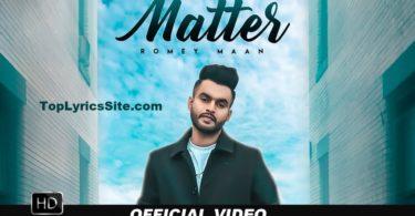 Matter Lyrics