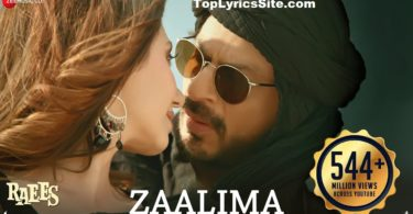 Zaalima Lyrics