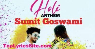 Holi Anthem Lyrics