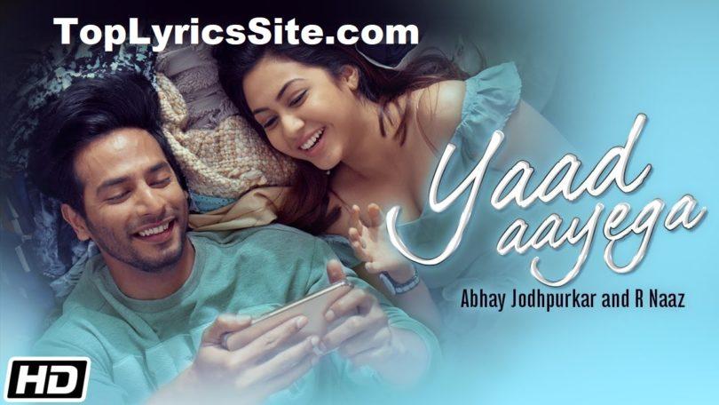 Yaad Aayega Lyrics