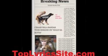 Gully Ka Kutta Lyrics