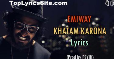 Khatam Karona Lyrics
