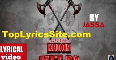 Khoon Jatt Da Lyrics