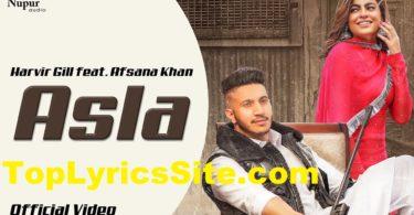 Asla Lyrics