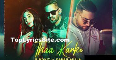 Thaa Karke Lyrics