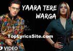 Yaara Tere Warga Lyrics