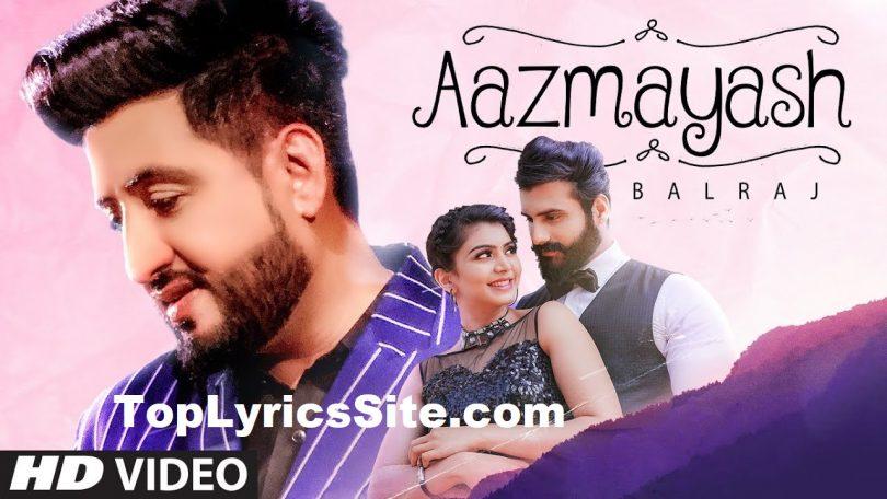 Aazmayash Lyrics