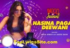Hasina Pagal Deewani Lyrics