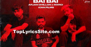 Bai Bai Lyrics