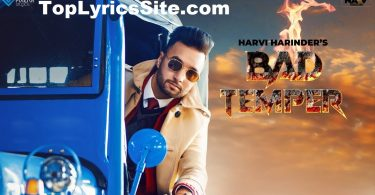 Bad Temper Lyrics