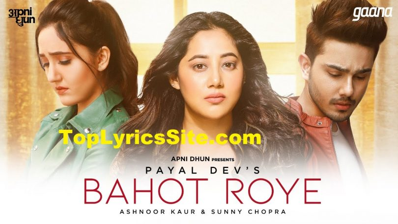 Bahot Roye Lyrics