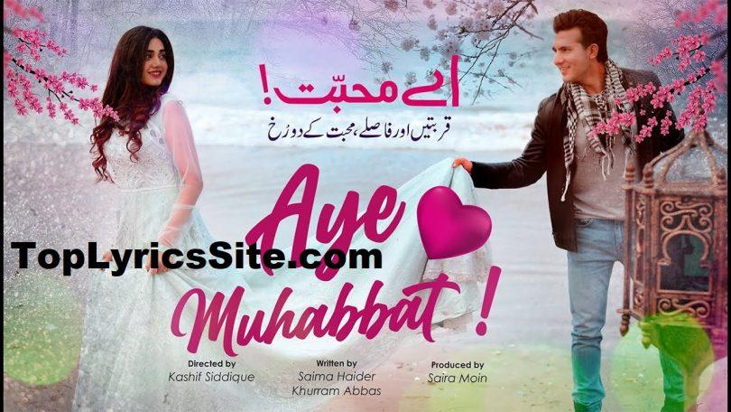 Aye Muhabbat Drama OST Lyrics