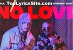No Love Lyrics