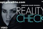 Reality Check Lyrics