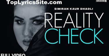 Reality Check Lyrics