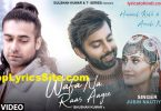 Wafa Na Raas Aayee Lyrics