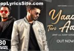 Yaad Teri Aai Lyrics
