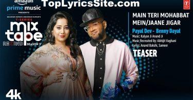 Main Teri Mohabbat Mein Jaane Jigar Lyrics