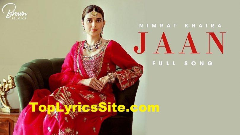 Jaan Lyrics