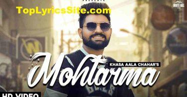 Mohtarma Lyrics