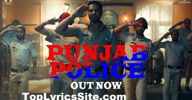 Punjab Police Lyrics