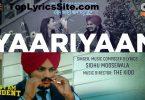 Yaarian Lyrics